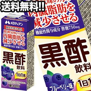 【10月1日出荷開始】メロディアン 黒酢飲料 ブルーベリー味 200ml紙パック×72本[24本×3箱][機能性表示食品][賞味期限:2ヶ月以上]1セット1配送でお届け北海道・沖縄・離島は送料無料