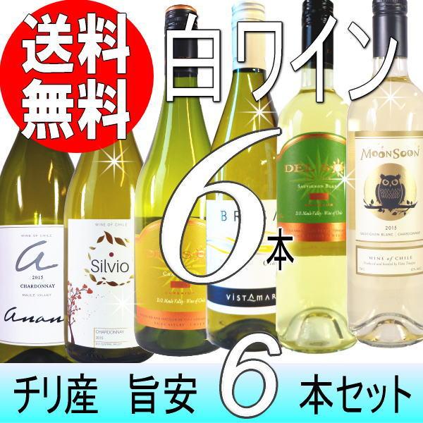 旨安の白!チリワイン6本セット (Ver.15)【送料無料】