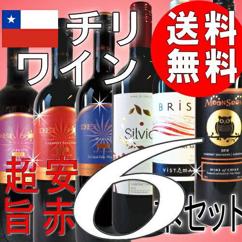 旨安の赤!チリワイン6本セット (Ver.21)【送料無料 飲み比べ】