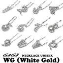 GaGa MILANO/ガガミラノ NECKLACE NUMBER ZIRCONIA WG/ジルコニアナンバーネックレス TNC-xx-CZシリーズ ホワイトゴー…