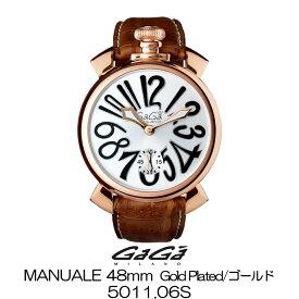 GaGa MILANO MANUALE 48MM GOLD PLATED/ガガミラノ マニュアーレ 48MM ゴールド 5011.06S 国内正規品 正規販売店 新品・未使用