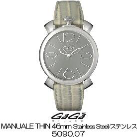 GaGa MILANO MANUALE THIN 46MM Stainless Steel/ガガミラノ マニュアーレ シン 46MM ステンレス 5090.07 国内正規品 正規販売店 新品・未使用