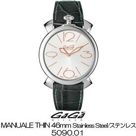 GaGa MILANO MANUALE THIN 46MM Stainless Steel/ガガミラノ マニュアーレ シン 46MM ステンレス 5090.01 国内正規品 正規販売店 新品・未使用