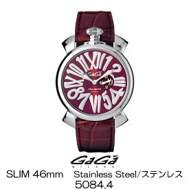 GaGa MILANO SLIM 46MM Stainless Steel/ガガミラノ スリム 46MM ステンレス 5084.4 国内正規品 正規販売店 新品・未使用