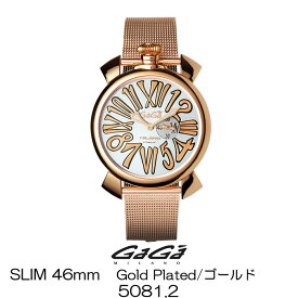 GaGa MILANO SLIM 46MM GOLD PLATED/ガガミラノ スリム 46MM ゴールド 5081.2 女性用/レディース 国内正規品 正規販売店 新品・未使用