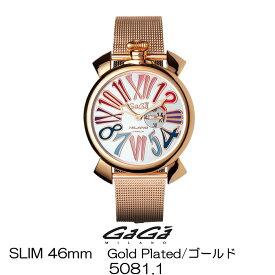 GaGa MILANO SLIM 46MM GOLD PLATED/ガガミラノ スリム 46MM ゴールド 5081.1 女性用/レディース 国内正規品 正規販売店 新品・未使用