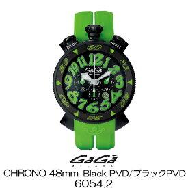 GaGa MILANO CHRONO 48MM BlackPVD/ガガミラノ クロノ 48MM ブラックPVD 6054.2 国内正規品 正規販売店 新品・未使用