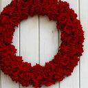レッドローズリース『LL』〜約43cm〜 アートフラワー クリスマスリース 誕生日 玄関 インテリア クリスマス ギフト プレゼント お祝い …
