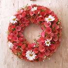 大人気 ピンク眠りの木 with マーガレット リース Lサイズ 敬老の日 ギフト 玄関 おもてなし 来客 ドア ピンク ドライフラワー プレゼント 直径約30cm以上 デザイナーズ 誕生日 新生活 飾り ウェルカム