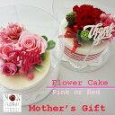 【あす楽】母の日限定 カーネーションのケーキ【プリザーブドフラワー】メッセージカード【ケーキ】花 フラワー スイーツ ママ お祝い …
