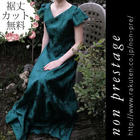演奏会用ドレス バラ柄シャンタンの 2WAYドレス(op3564)日本製 袖付き コーラス フォーマル ステージ衣装 黒 桃 緑 赤 青 発表会 演奏会 カラー 結婚式 母親 ワンピース ミセス 大きいサイズ ファッション 20代 30代 40代 50代 60代