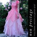 演奏会 ドレス ノースリーブ 花 オーガンジーのドレス(グラデーション)(op3581)日本製 コーラス・演奏会・オーケス…