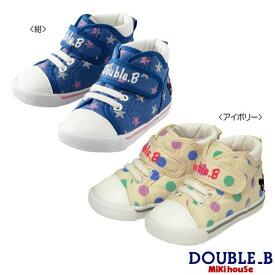 ダブルB ミキハウス Double B by MIKIHOUSE ドット&星柄 セカンドベビーシューズ【靴】【30%OFFセール】