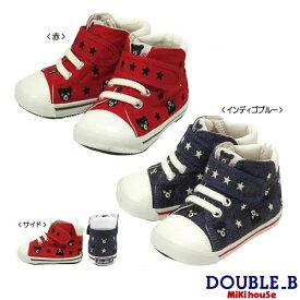 ダブルB ミキハウス Double B by MIKIHOUSE プチ刺繍 セカンドベビーシューズ【日本製 靴】(靴箱なし)【30%OFFセール】