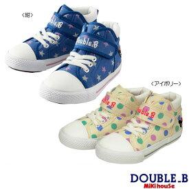 ダブルB ミキハウス Double B by MIKIHOUSE ドット柄ガーリー キッズシューズ(靴箱ありと靴箱なしが混在しています) 【30%OFFセール】