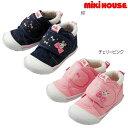 ミキハウス(MIKIHOUSE) うさことお花&いちごマジックテープ セカンドベビーシューズ(日本製 ミキハウス 靴)