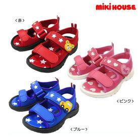 ミキハウス MIKIHOUSE ジャージ素材のキッズサンダル【靴箱無し】【ベビー】【キッズ】【30%OFFセール】