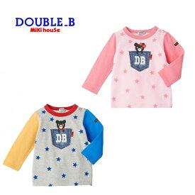 ダブルB(ミキハウス) デニムポケットプリント長袖Tシャツ【30%OFFセール】【キッズ】【ベビー】