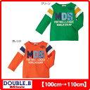 ダブルB(ミキハウス) フットボール長袖Tシャツ(日本製)(40%OFFセール)Double B by MIKIHOUSE