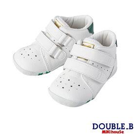 ダブルB ミキハウス Double B by MIKIHOUSEソフトレザーベビーファーストシューズ【日本製)【送料無料】 【靴】