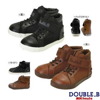 双B(Miki房屋)帆布材料的高cut鞋(30%OFF奥特莱斯促销)(鞋箱子没有)