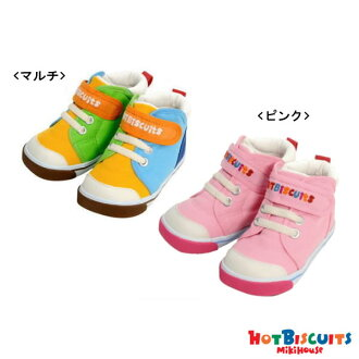 Entering ホットビスケッツ (Miki house) hot bilogo embroidery second baby shoes