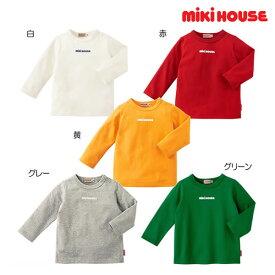 ミキハウス(MIKIHOUSE】 ロゴプリント長袖Tシャツ【日本製】【ベビー】 【キッズ】