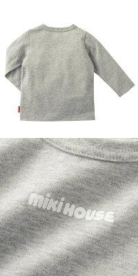 ミキハウス(MIKIHOUSE)ロゴプリント長袖Tシャツ(日本製)