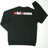ミキハウス(MIKIHOUSE)バックロゴトレーナー【日本製】【メール便可】