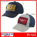 ダブルB(ミキハウス) ワッペン付きデニムキャップ(帽子)