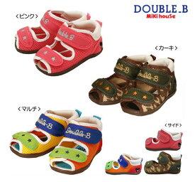【セール40%OFF】ダブルB ミキハウス Double B by MIKIHOUSE ダブルラッセル ベビーサンダル【靴】【サンダル】【キッズ】【靴箱無し】