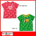 ホットビスケッツ(ミキハウス) 星&水玉半袖Tシャツ