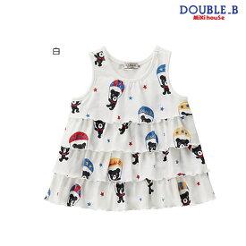 【セール30%OFF】ダブルB ミキハウス Double B by MIKIHOUSEパラシュート柄ティアードタンクトップ【日本製) 【ベビー】 【キッズ】