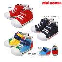 ミキハウス【MIKIHOUSE】 mロゴ キャンバス セカンドシューズ【靴箱なし) 【30%OFFアウトレットセール】