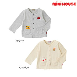 Product made in Miki house MIKIHOUSE プッチー, car applique cut-and-sew cardigan Japan