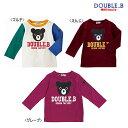 【ポッキリ価格セール】ダブルB(ミキハウス) Double B by MIKIHOUSE ブラックベアプリント長袖Tシャツ【キッズ】【ベ…