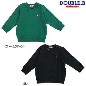 ダブルB(ミキハウス) Double B by MIKIHOUSE ブラックベアワンポイント刺繍トレーナー【30%OFFセール】【キッズ】【ベビー】