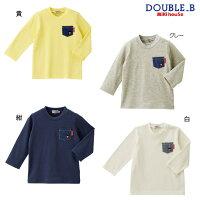 ダブルB(ミキハウス)DoubleBbyMIKIHOUSEデニムポケット付長袖Tシャツ【30%OFFセール】