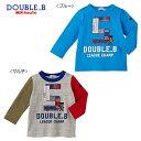 【セール50%OFF】ダブルB(ミキハウス) Double B by MIKIHOUSEリメイク風刺繍の長袖Tシャツ【日本製】【メール便可】
