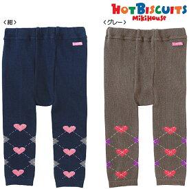 【セール30%OFF】ホットビスケッツ(ミキハウス) Hot Biscuits by MIKIHOUSE ハートアーガイルレギンス【ベビー】【キッズ】