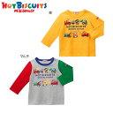 【セール50%OFF】【半額】ホットビスケッツ(ミキハウス) Hot Biscuits by MIKIHOUSE 働く車長袖Tシャツ【メール便可】