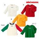 【セール30%OFF】ミキハウス(MIKIHOUSE)ロゴプリント長袖Tシャツ【日本製】【ベビー】 【キッズ】【メール便可】
