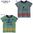 【セール50%OFF以上】【半額以下】ダブルB(ミキハウス) Double B by MIKIHOUSE カレッジロゴプリントの半袖Tシャツ【日本製】【キッズ…