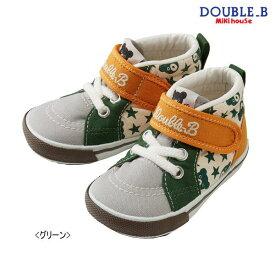 【セール30%OFF】ダブルB(ミキハウス) Double B by MIKIHOUSE ブラックベア&星柄ベビーセカンドシューズ【日本製】【キッズ】【ベビー】※靴箱ありと靴箱無しが混在しています
