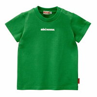 ミキハウスMIKIHOUSEロゴプリントシンプル半袖Tシャツ【日本製】【30%OFFセール】【キッズ】【ベビー】
