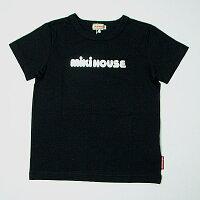 ミキハウスMIKIHOUSEキラキラロゴ半袖Tシャツ【日本製】【メール便可】