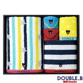 ダブルB ミキハウス Double B by MIKIHOUSE バス&フェイス&ハンド&ミニタオル2Pセット【日本製】【箱付】 【ベビー】 【キッズ】