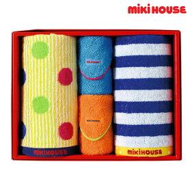 ミキハウス MIKIHOUSE フェイス2P&ミニタオル2Pセット【日本製】【箱付】 【ベビー】 【キッズ】