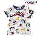 【セール30%OFF】ダブルB(ミキハウス) Double B by MIKIHOUSE サマーフェス柄Tシャツ【日本製】【キッズ】【メール便可】