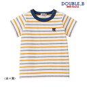 【セール30%OFF】ダブルB(ミキハウス) Double B by MIKIHOUSE ボーダー半袖Tシャツ【ベビー】【キッズ】